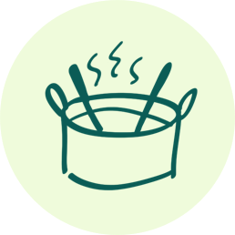 Illustration of a cooking pot